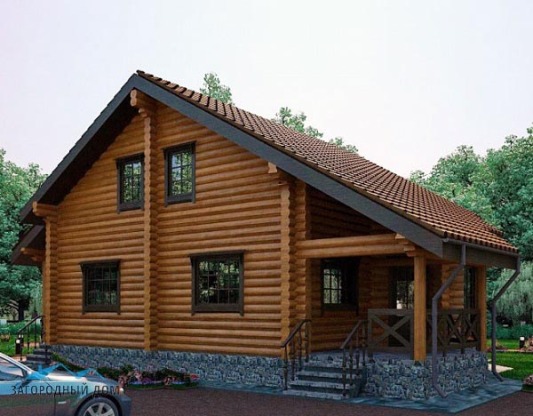 Дома из сруба: особенности постройки и лучшие идеи обустройства интерьера и наружного оформления (180 фото)