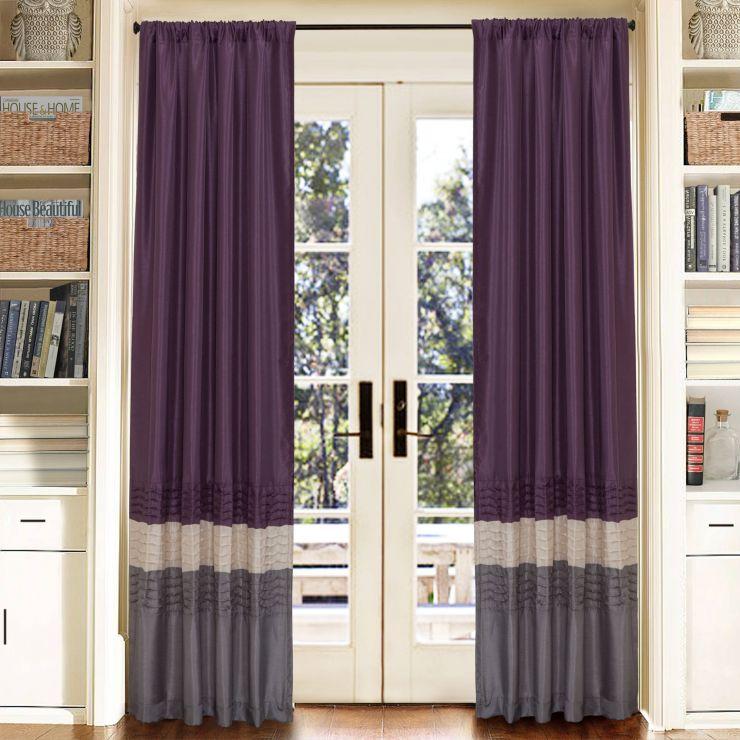 шторы сиреневые для гостиной фото