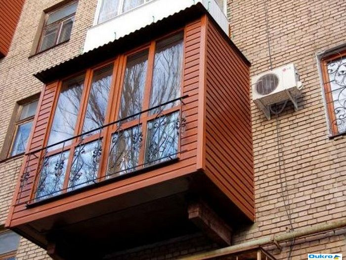 облицовка балкона снаружи