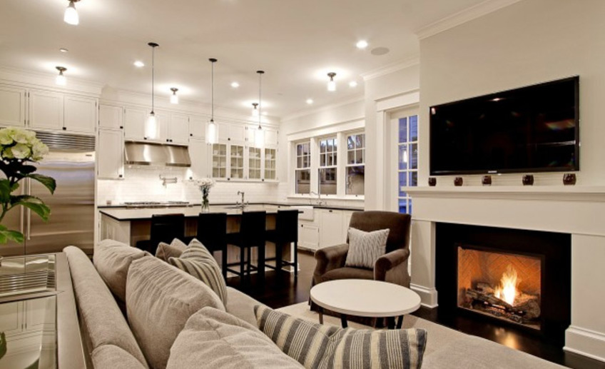 Гостиная в частном доме (126 фото): красивые варианты оформления зала в деревянном или кирпичном загородном коттедже, как оформить в деревенском или городском стиле