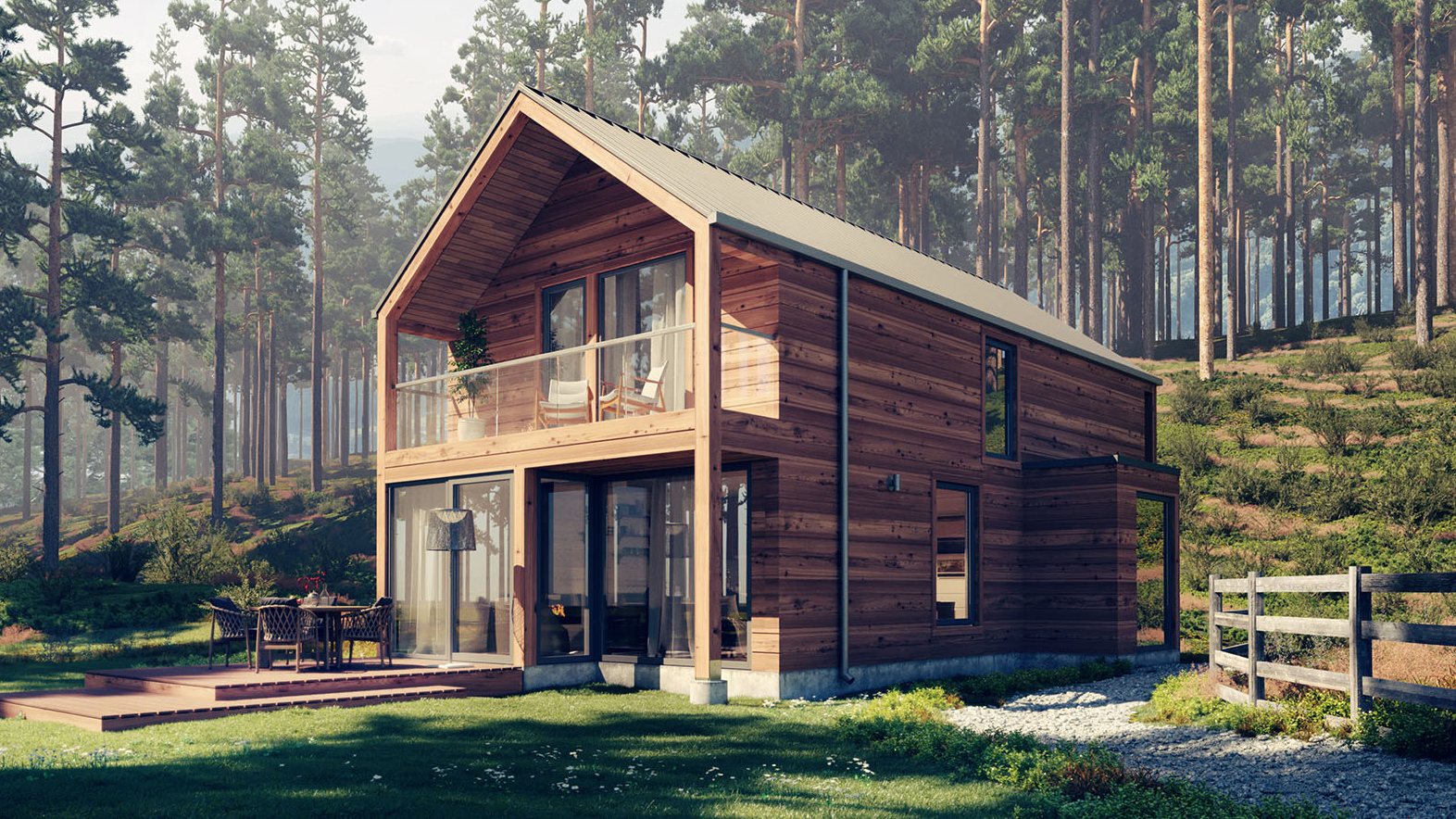 Скандинавский каркасный дом конструкция