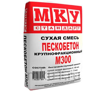 Пескобетон м300: инструкция по применению, состав и пропорции, расход на 1м2