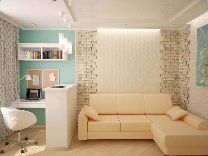 Однокомнатная «хрущевка» (79 фото): ремонт однушки. план для  31 кв. м и другой площади. варианты планировки и дизайна интерьера, размеры