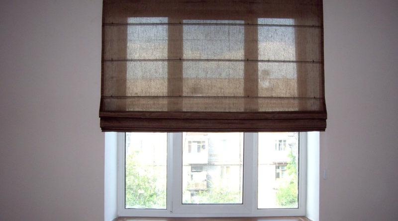 как сшить римские шторы на кухню