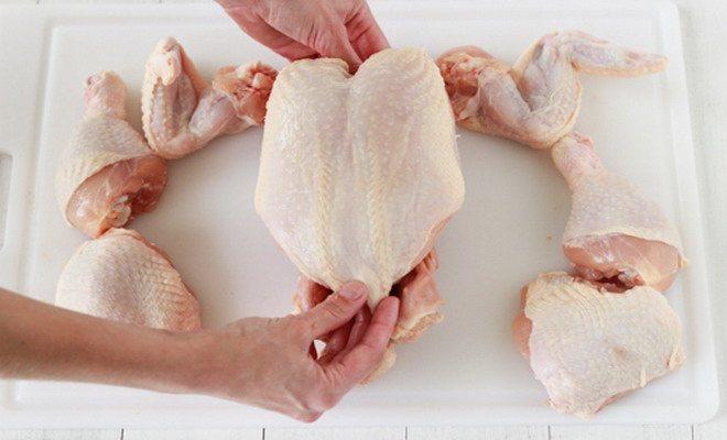 как правильно зарубить курицу
