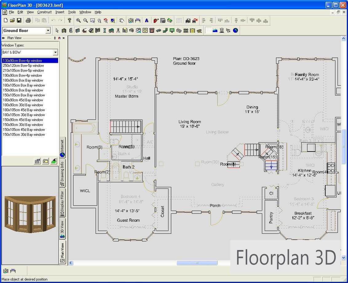 планы квартир с размерами и площадью