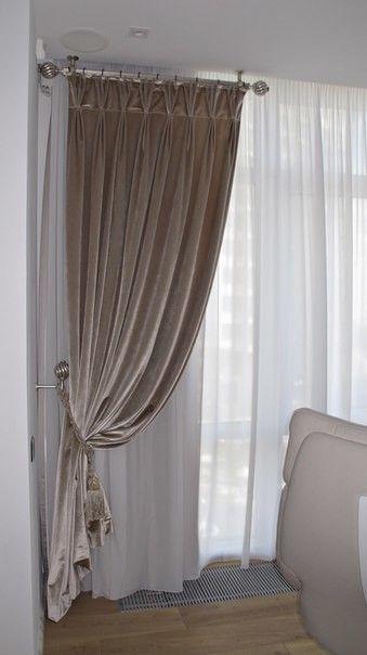 Варианты использования серых штор в интерьере спальни