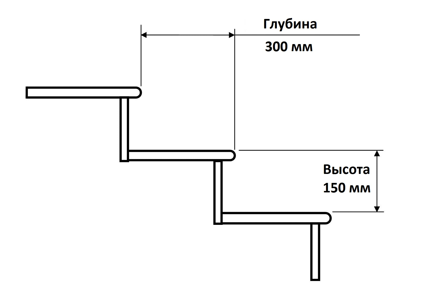 ширина ступени лестницы норма в частном доме