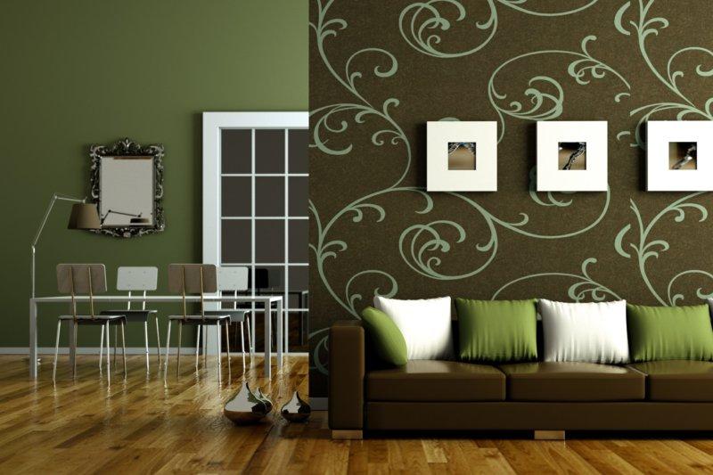 Коричневая мебель в интерьере гостиной, кухни, спальни и ванной комнаты, красивые сочетания с желтым, красным, серым и черным, выбираем цвет стен, обоев и штор