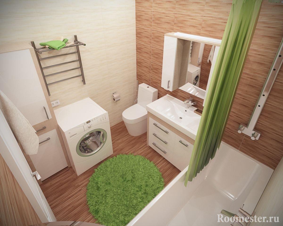 Варианты дизайна ванны, совмещенной с туалетом 5 кв. м