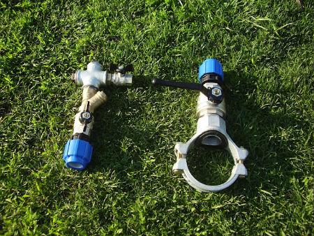Вентиль для врезки под давлением в пластиковую, стальную и чугунную трубу | фриален и седелка с фрезой электросварная