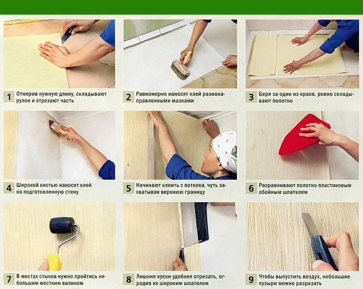 Как клеить бумажные обои правильно (73 фото): поклейка обоев с тиснением «дуплекс» на бумажной основе, внахлест или встык, сколько они сохнут после поклейки