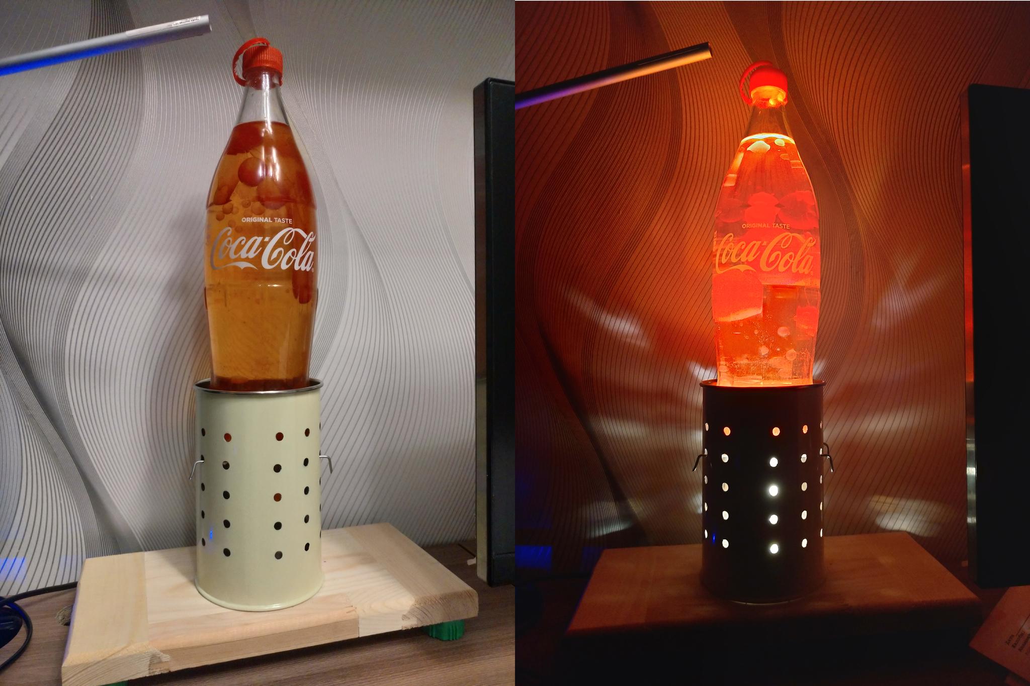 светильник лава с плавающими пузырями