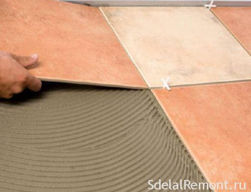 Специфика укладки керамической плитки на фанеру