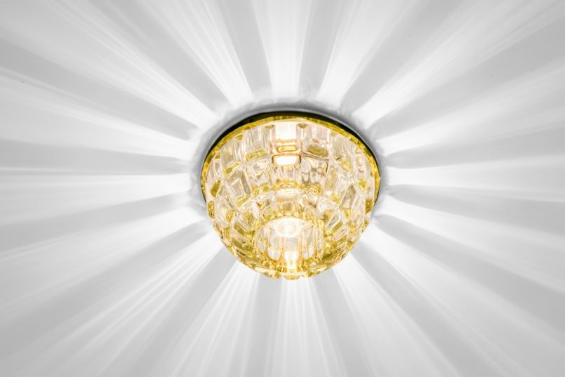 Точечные светильники для натяжных потолков: 115 фото оптимального выбора