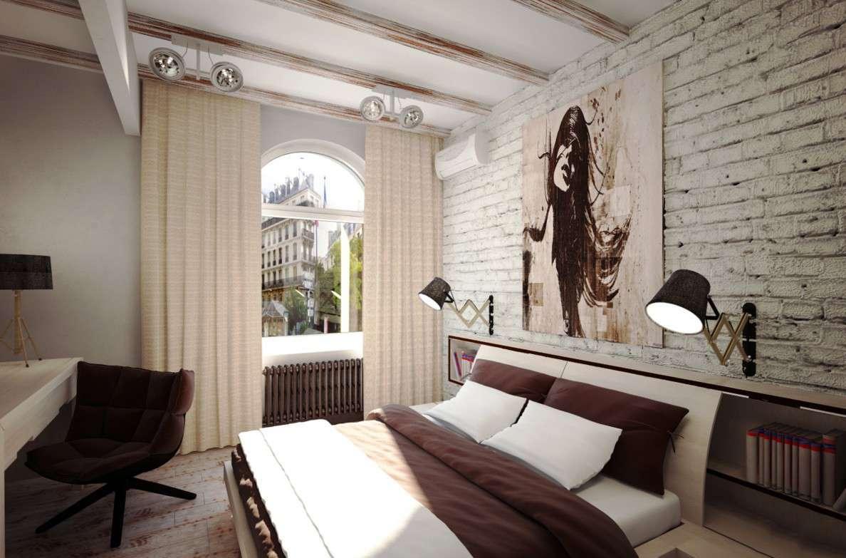 комната в стиле лофт в обычной квартире
