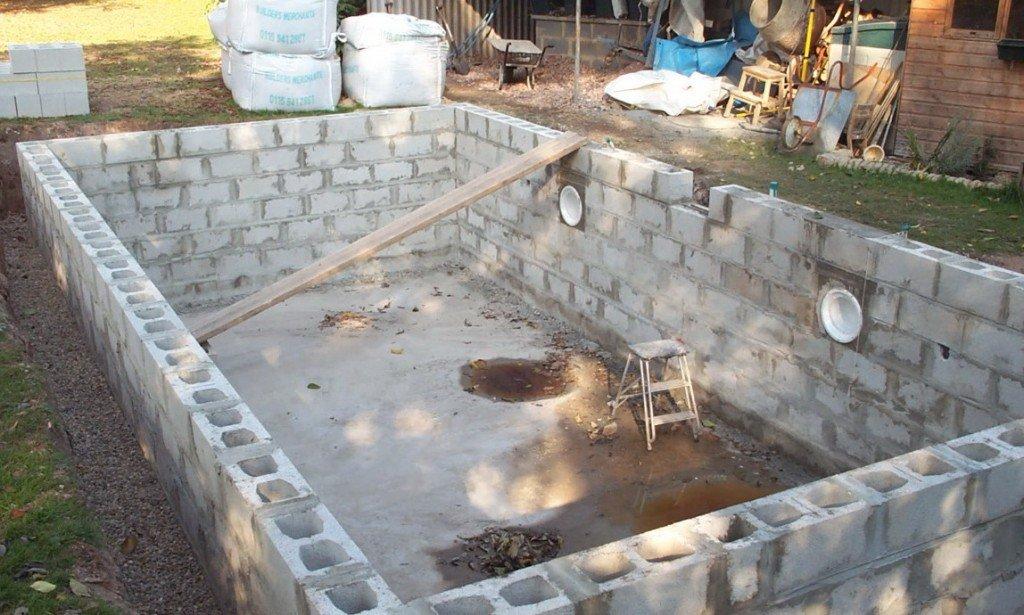 Бассейн из бетона своими руками (фото и видео)