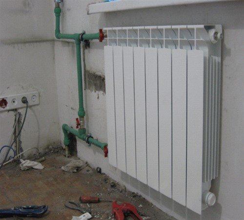 высота установки радиаторов отопления от пола