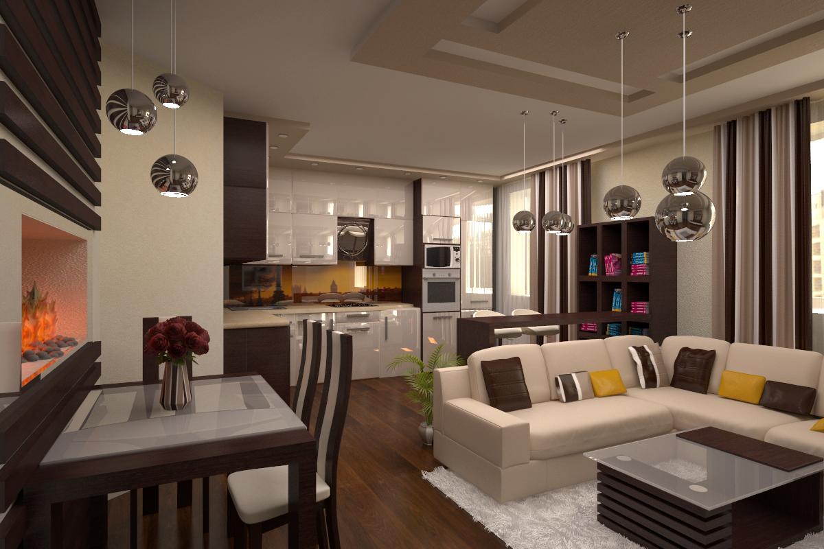 Кухня-студия: обзор дизайна, меблировки и оборудования (110 фото)