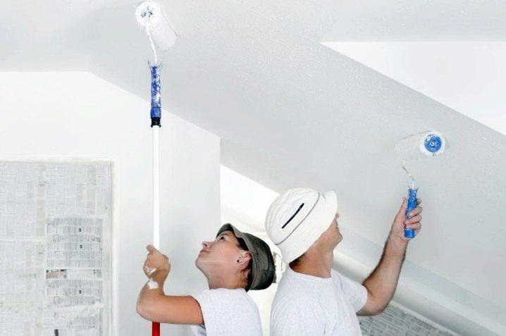 Как выбрать валик для покраски потолка водоэмульсионной краской?