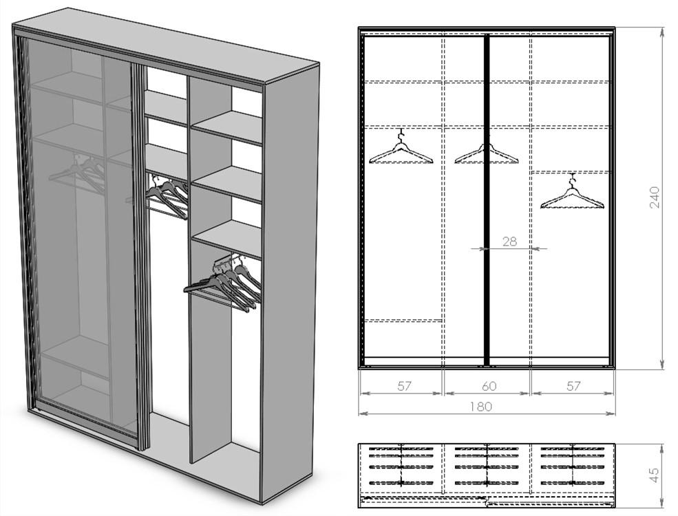 Размеры шкафа-купе (91 фото): глубина в прихожую, стандартные и индивидуальные, для узких моделей и для одежды, минимальная высота