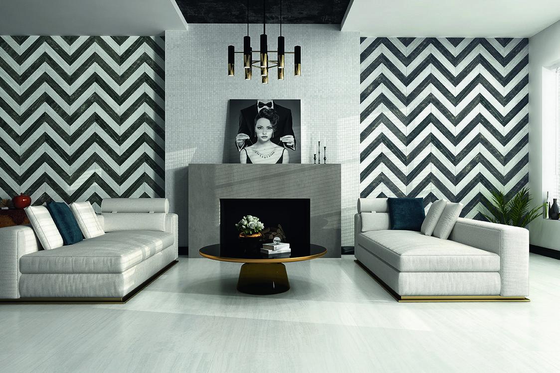 Увидела в гостях красивый геометрический рисунок на стене, и мы дома сделали такой же: решение простое, но смотрится стильно