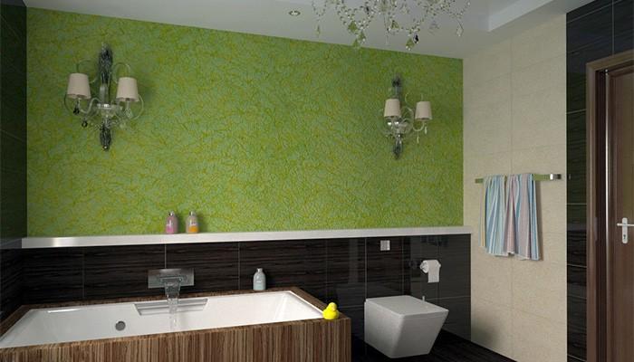 Декоративная штукатурка в ванной — особенности использования