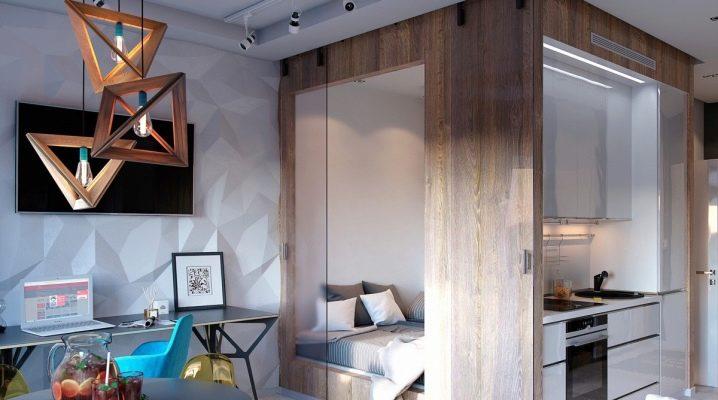 Дизайн однокомнатной квартиры 2017, 94 фото и идеи интерьера смарт квартир   the architect