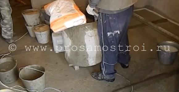 бетонная стяжка под пол