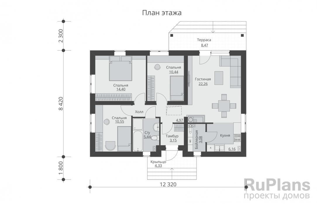 Дом 5 на 5: проект строительства по каркасной технологии из бруса, планировка двухэтажного и одноэтажного жилья с мансардой
