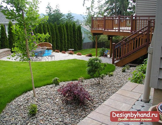 фото ландшафтного дизайна в загородном доме