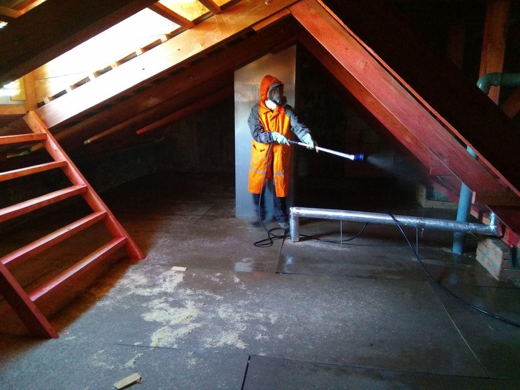 Противопожарная обработка деревянных конструкций