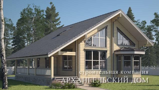 Проекты деревянных домов ⋆ domastroika.com