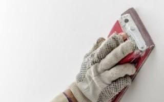 Ошкуривание стен после шпаклевки - выбор инструмента и шкурки для затирки