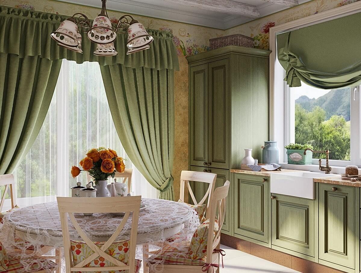 шторы на балкон в стиле прованс