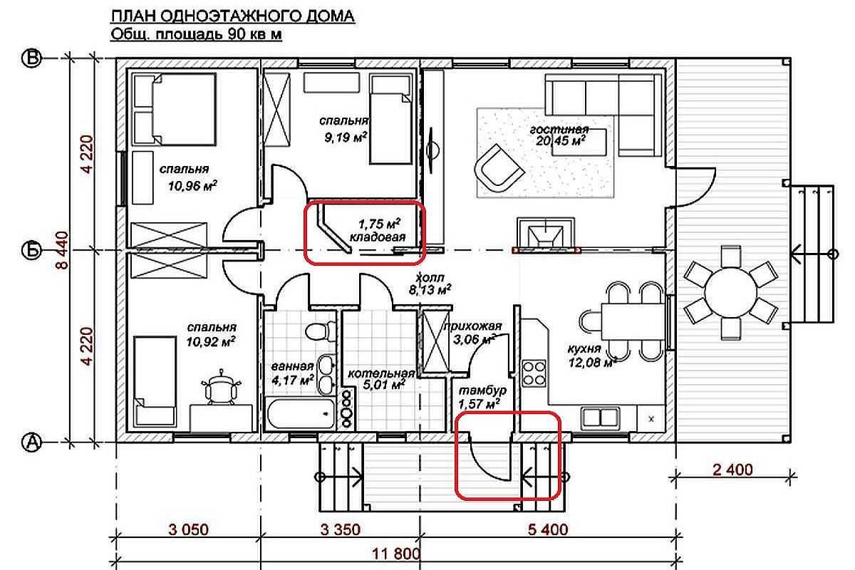 Планировка одноэтажного загородного дома: удачные варианты проектов, дизайн внутри  - 23 фото