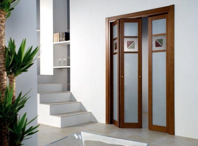 Какие выбрать межкомнатные двери гармошка: фото и цены различных моделей