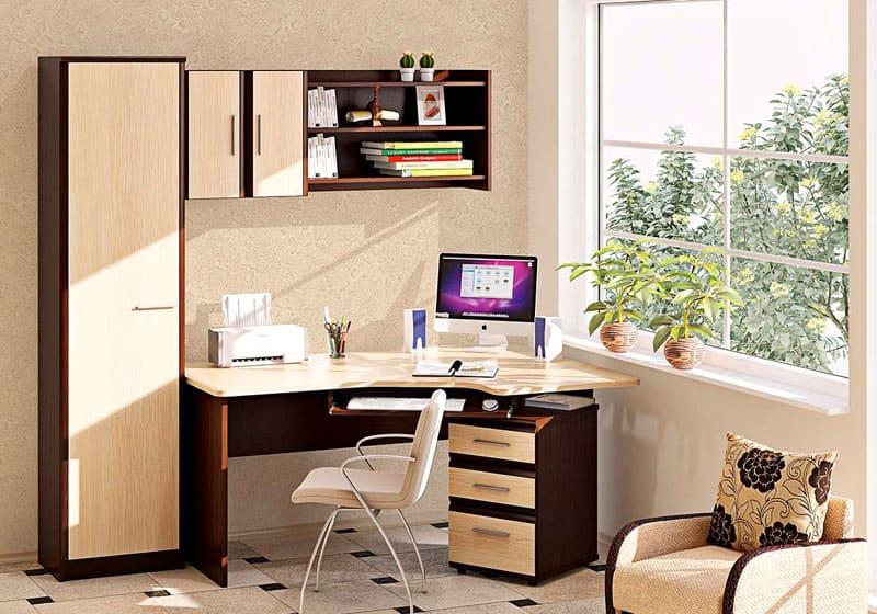 Угловой компьютерный стол — когда во главе угла удобство + фото