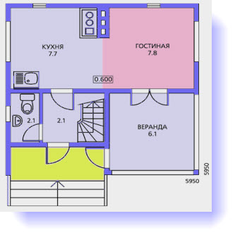 План дома 6 на 6: проекты одноэтажных и двухэтажных строений