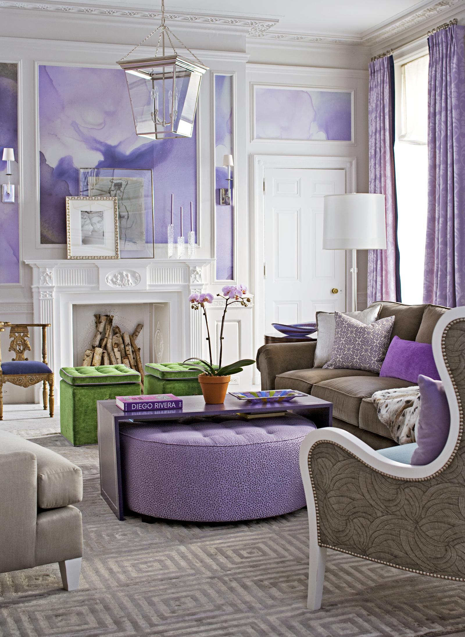Спальня в серо-фиолетовых тонах: дизайн интерьера