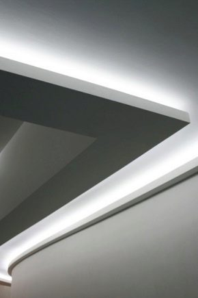 Светодиодная подсветка потолка лентой - тонкости выбора и монтажа