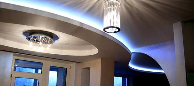 Как правильно установить подсветку из светодиодной ленты под натяжной потолок