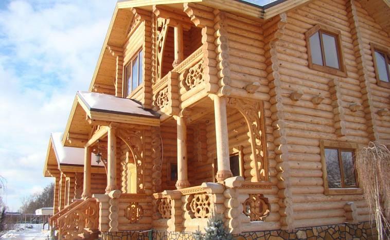 Дома из оцилиндрованного бревна (проекты, 57 фото): традиции и современность