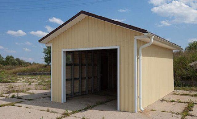 Каркасный гараж своими руками — как легко возвести конструкцию