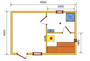 Баня из бревна 4 на 4 – преимущества и особенности выбора проекта