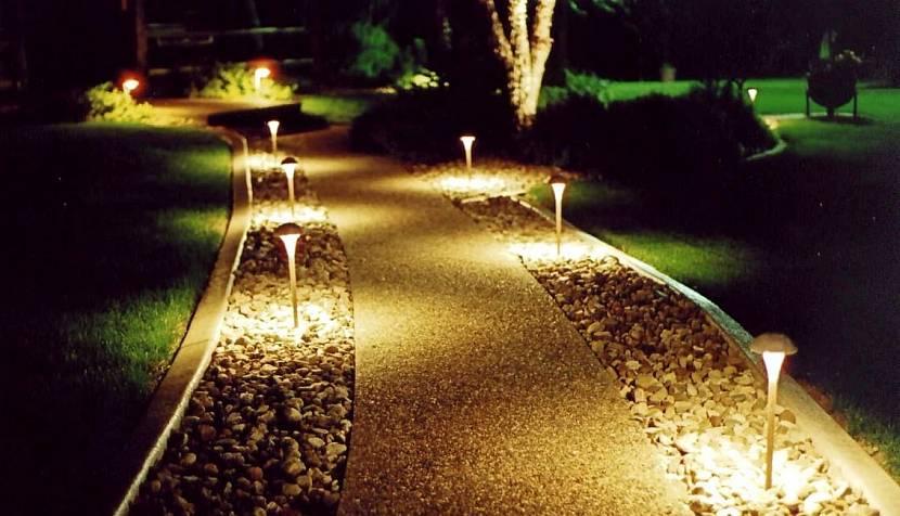 Ландшафтное освещение, типы и способы - фото примеров