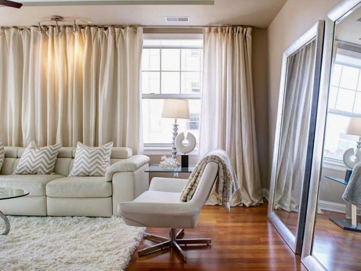 Тюль для зала (гостиной) 2018 - современные идеи дизайна и новинки с фото