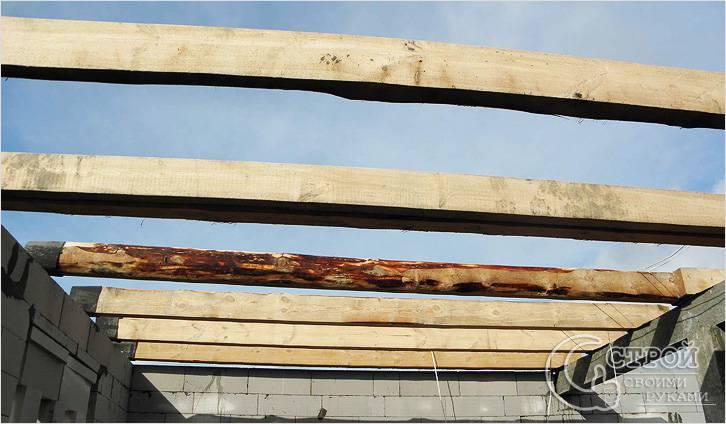 Деревянные балки перекрытия – как правильно использовать, усиление для балок