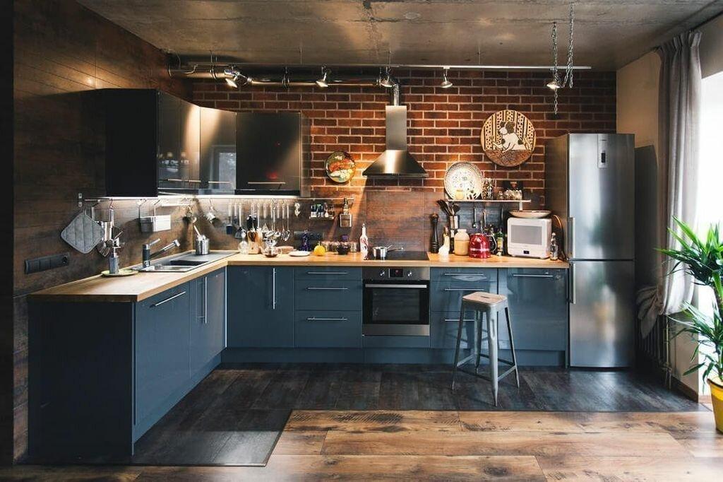 Кухня лофт – идеи дизайна, варианты планировки и декорирования.