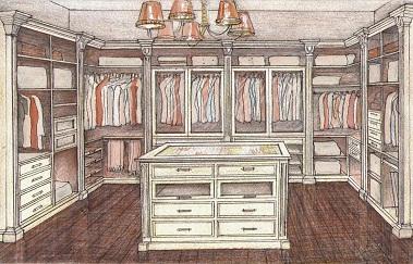гардеробные на заказ по индивидуальным размерам недорого